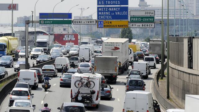 Les axes les plus embouteillés de la régions se situent au sud de Paris.