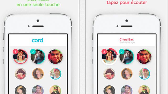 Cord permet d'envoyer des micro-messages vocaux