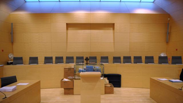 La salle d'audience de la cour d'assises de Melun.