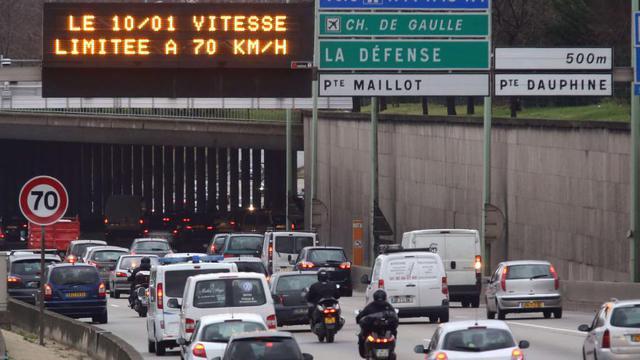 Huit tronçons du périphérique font partie des routes les plus encombrées de France.