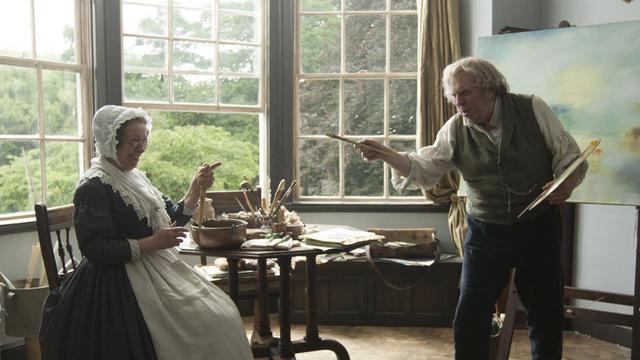"Marion Bailey et Timothy Spall dans le film de Mike Leigh ""Mr. Turner""."