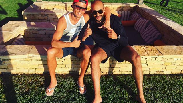 Cristiano Ronaldo avec son ami le kick-boxeur marocain Badr Hari.