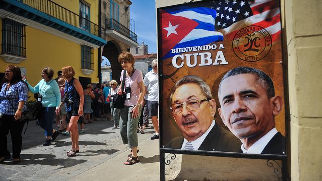 Les Cubains se préparaient à recevoir Barack Obama, le 18 mars 2016 à La Havane.
