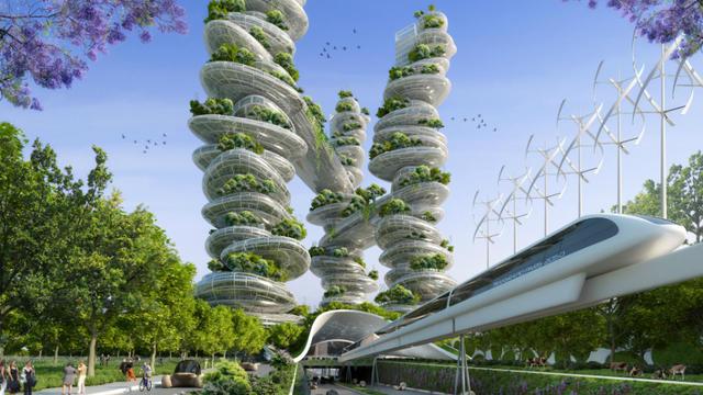 Paris le top 5 des projets architecturaux du futur - Immeuble ecologique ...