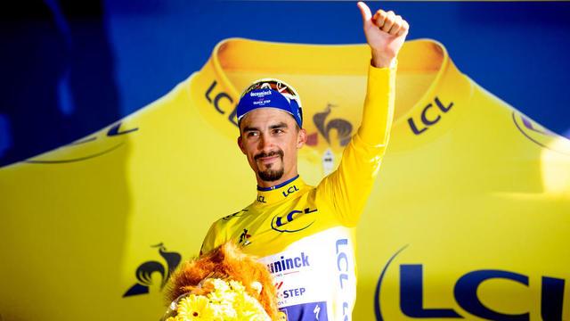 Julian Alaphilippe a porté pendant quatorze jours le maillot jaune sur le Tour de France.