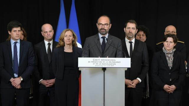 Edouard Philippe à Strasbourg le 11 avril pour le comité interministériel consacré à la lutte contre la radicalisation  [FREDERICK FLORIN / AFP]