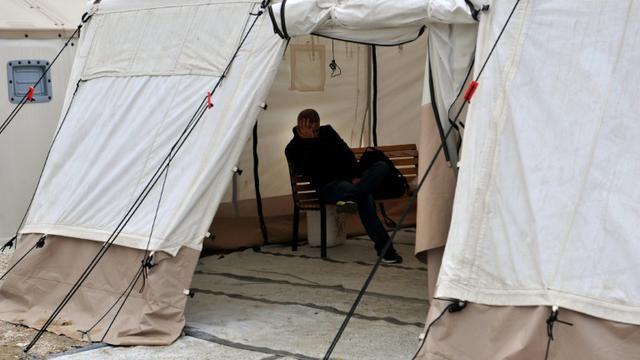 Un camp pour migrants le 14 octobre 2015 à Idomi dans le nord de la Grèce [STR / AFP/Archives]