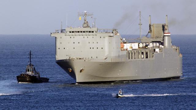 Le navire américain Cape Ray, le 1 juillet 2014 en mer Méditerranée [Mario Tosti / AFP/Archives]