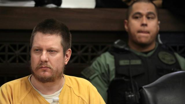 Jason Van Dyke au tribunal de Chicago, le 18 janvier 2019 [Antonio Perez / POOL/AFP]