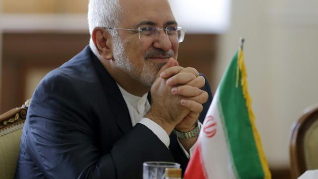 Le ministre iranien des Affaires étrangères Mohammad Javad Zarif lors d'une rencontre avec son homologue nord-coréen Ri Yong Ho à Téhéran, le 7 août 2018 [ATTA KENARE / AFP/Archives]