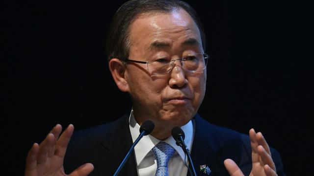 Ban Ki-moon en janvier 2015 [Sajjad Hussain / AFP/Archives]