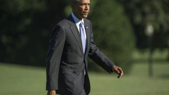 Le président américain Barack Obama à la Maison Blanche à Washington le 25 août 2015 [MOLLY RILEY / AFP/Archives]