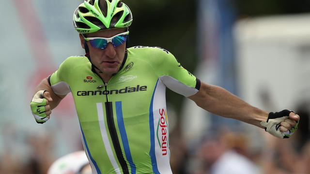 L'Italien Elia Viviani (Cannondale) remporte le 21 août 2014 à Colorado Springs la 4e étape du Tour du Colorado [Doug Pensinger / Getty/AFP]