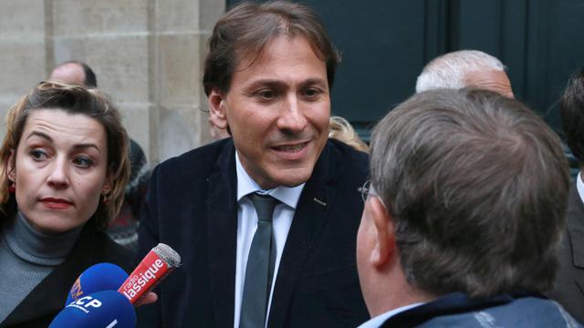 Le député de l'Essonne Jérôme Guedj (c) parle à la presse, le 16 mai 2013 à Paris [Pierre Verdy / AFP/Archives]