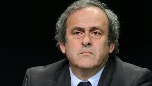 Le président de l'UEFA Michel Platini, le 28 mai 2015 au Congrès de la Fifa à Zurich [FABRICE COFFRINI / AFP/Archives]