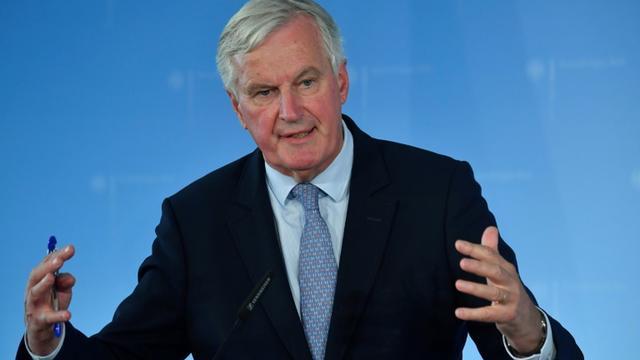 Le négociateur sur le Brexit pour l'UE Michel Barnier, le 23 septembre 2019 à Berlin [John MACDOUGALL / AFP]