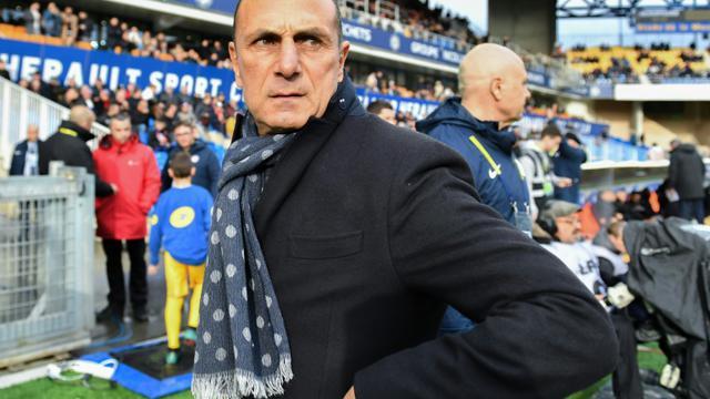 L'entraîneur de Montpellier Michel Der Zakarian lors de la réception de Rennes le 25 novembre 2018 [PASCAL GUYOT / AFP]