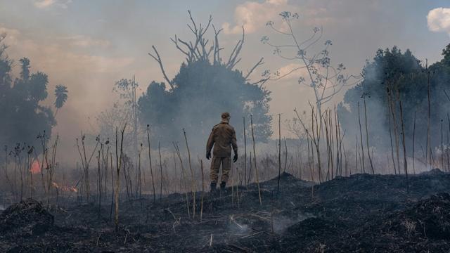 Incendie de forêt dans l'Etat brésilien du Mato Grosso, le 26 août 2019 [Mayke TOSCANO / Mato Grosso State Communication Department/AFP]