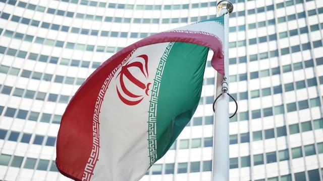 Le drapeau iranien flotte devant le siège de l'ONU et de l'Agence internationale de l'énergie atomique à Vienne, le 3 juillet 2014 [Joe Klamar / AFP/Archives]