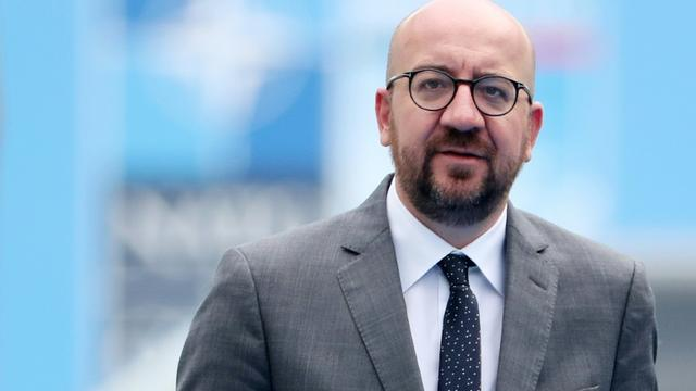 Charles Michel, qui conduit le gouvernement de centre-droit, à Bruxelles, le 12 juillet 2018 [Tatyana ZENKOVICH / POOL/AFP/Archives]