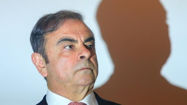 Carlos Ghosn, l'ancien patron de Renault et Nissan, lors de sa conférence de presse à Beyrouth, le 8 janvier 2020 [- / AFP]