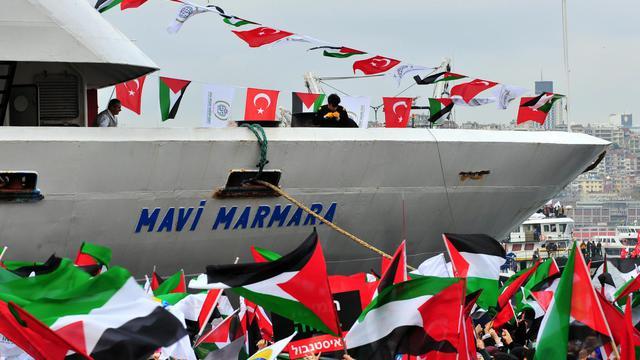 Le bateau turc Mavi Marmara avait été attaqué par l'armée israélienne en tentant de forcer le blocus maritime de Gaza, en 2010 [Mustafa Ozer / AFP/Archives]