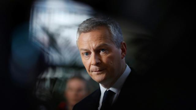 Le ministre de l'Economie Bruno Le Maire à Paris, le 12 janvier 2018 [Patrick KOVARIK / AFP]