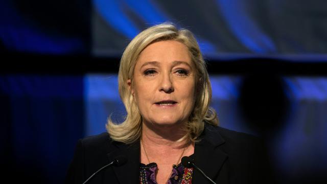 Marine Le Pen le 13 décembre 2015 à Hénin-Beaumont [DENIS CHARLET / AFP/Archives]