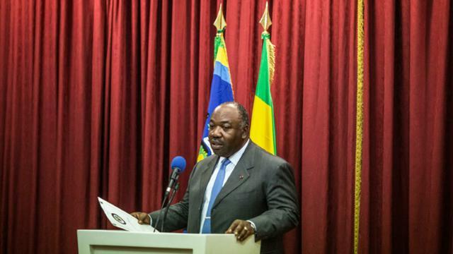 Le président gabonais Ali Bongo pendant une conférence de presse le 1er septembre 2016 [MARCO LONGARI / AFP/Archives]