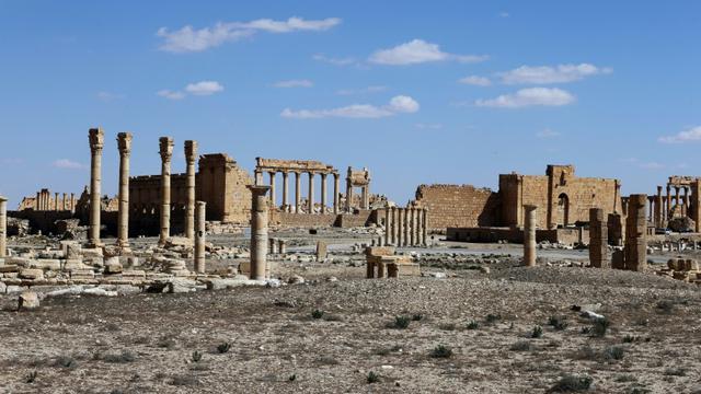 Le temple de Bel dans la cité antique de Palmyre en Syrie le 31 mars 2016 [JOSEPH EID / AFP/Archives]
