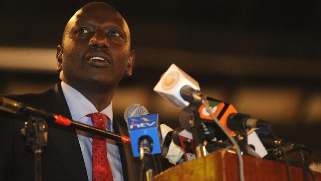 Le kényan William Ruto, alors candidat à l'élection présidentielle, lors du lancement de son Parti républicain uni (URP), le 15 janvier 2012 à Nairobi [Simon Maina / AFP]