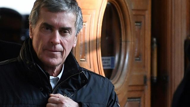 L'ancien ministre du Budget Jérôme Cahuzac, le dernier jour de son procès en appel, à Paris le 21 février 2018 [Eric FEFERBERG / AFP/Archives]