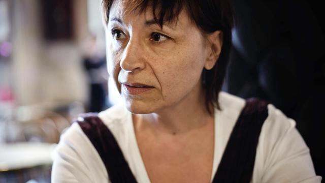 """Christine Tasin, présidente de """"Résistance républicaine"""", le 16 septembre 2010 à Dijon [Jeff Pachoud / AFP]"""