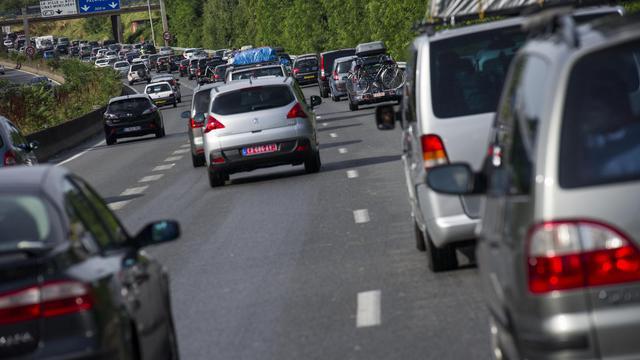 Une autoroute aux abords de Paris [Fred Dufour / AFP/Archives]