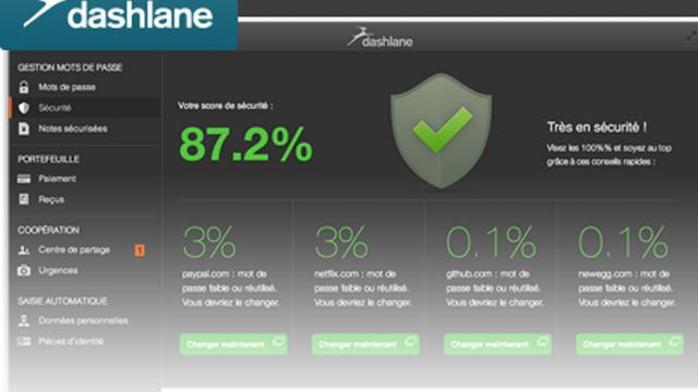 Le système Dashlane est un portefeuille numérique