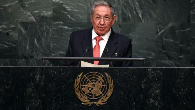 Le président cubain Raul Castro à la tribune de l'ONU à New York, le 26 septembre 2015  [Timothy A. Clary / AFP]