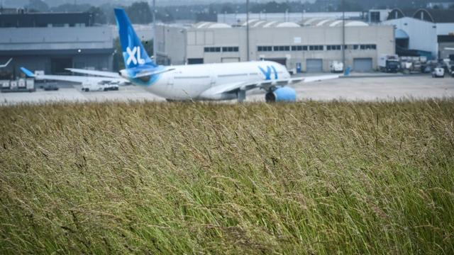 Un appareil de la compagnie française XL Airways le 8 juin 2018 à l'aéroport parisien Roissy-Charles de Gaulle [STEPHANE DE SAKUTIN / AFP/Archives]