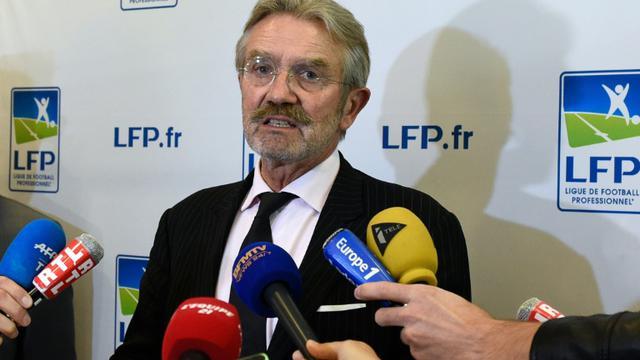Le président de la LFP Frédéric Thiriez, le 21 septembre 2015 à Paris [ALAIN JOCARD / AFP]
