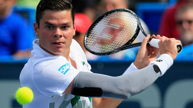 Le Canadien Milos Raonic lors du tournoi de Washington, le 2 août 2014 [Rob Carr / Getty Images/AFP]