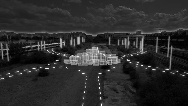 Une installation sonore et visuelle prendra place le long des voies ferrées, derrière la halle Pajol.