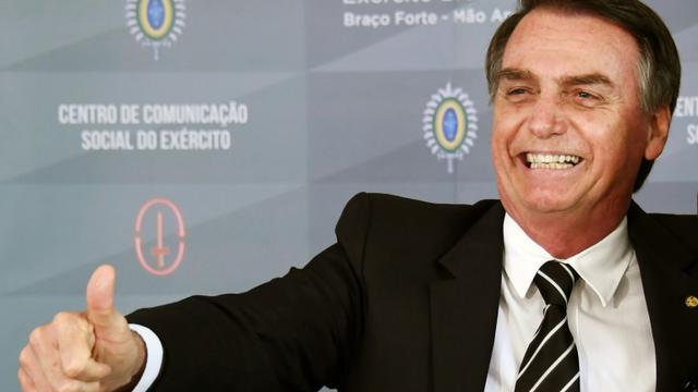 Le président élu du Brésil Jair Bolsonaro à Brasilia le 5 décembre 2018 [EVARISTO SA / AFP/Archives]