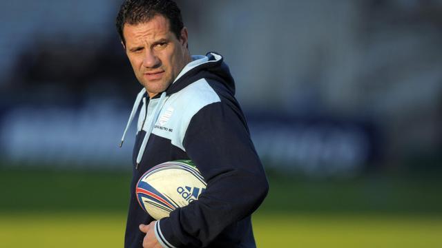 L'entraîneur du Racing-Métro Laurent Labit, le 7 décembre 2013 à La Beaujoire [Jean-Sebastien Evrard / AFP/Archives]