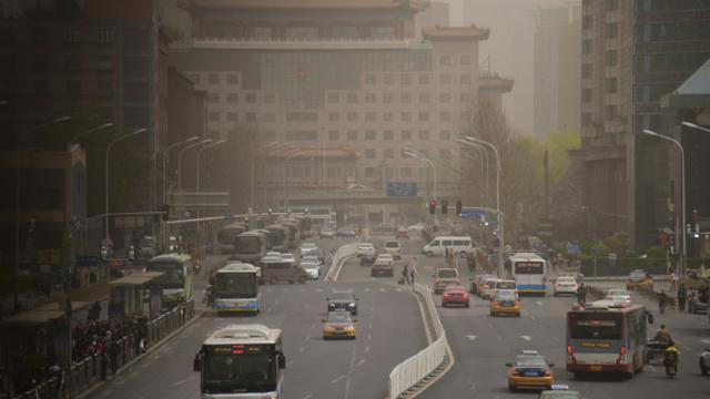 Dans une rue de Pékin, le 28 mars 2018 [WANG ZHAO / AFP/Archives]