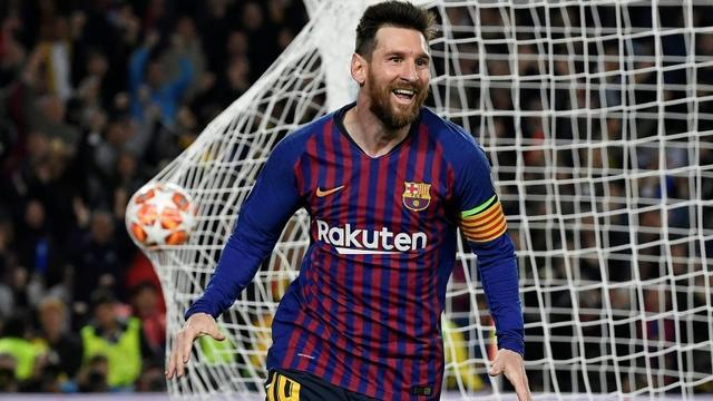 Lionel Messi, capitaine star du FC Barcelone, lors de la demi-finale aller contre Liverpool, le 1er mai 2019 à Barcelone [LLUIS GENE / AFP/Archives]