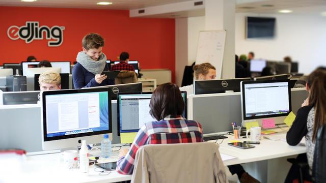 L'équipe de Djit compte près de 50 personnes dans leurs locaux de Boulogne-Billancourt.
