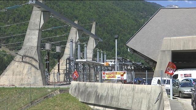 Les salariés d'EDF mobilisés contre la privatisation des barrages