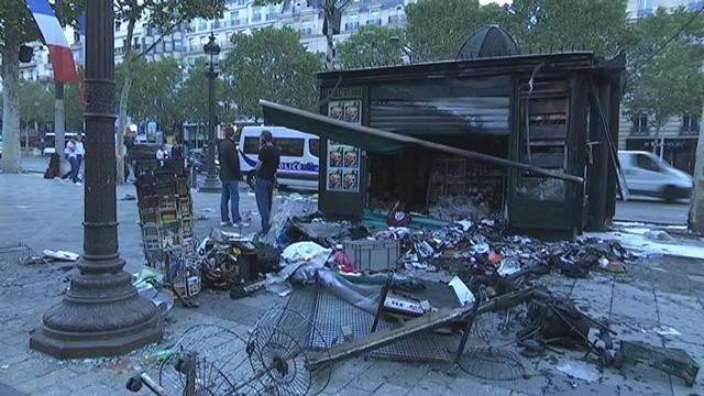 Dégâts colossaux à Paris au lendemain de la victoire des Bleus