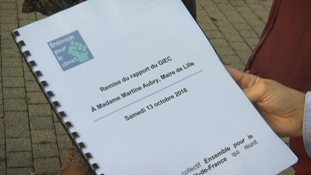 Le rapport du Giec remis solennellement  à la maire de Lille
