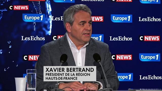 """Xavier Bertrand, président de la région Hauts-de-France : """"Si les dirigeants ont peur, alors là, ce sont les Français qui ont peur"""""""