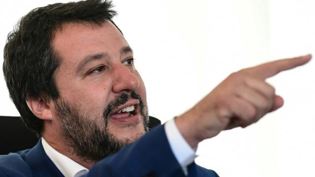 Matteo Salvini, leader de l'extrême droite italienne, vice-Premier ministre et ministre de l'Intérieur, le 7 mai 2019 à Milan [Miguel MEDINA / AFP/Archives]